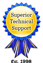 Badge of superior tech support